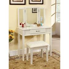 Furniture of America Thompson Bedroom Vanity Set - White