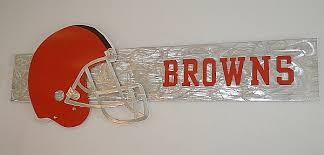 the cleveland browns logo art the browns are the nfl football team cleveland browns on cleveland browns wall art with cleveland browns logo art sculpture in brushed aluminum by artist