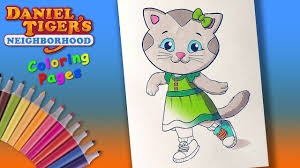 Danieltiger Coloring Forkids Learncolors With Daniel Tiger And His