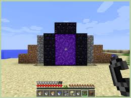 How To Light A Portal In Minecraft How To Make A Nether Portal In Minecraft With Pictures