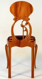 modern art nouveau furniture. art nouveau chair to pair with ladies writing desk carved mahogany silk upholstery by okhin modern furniture