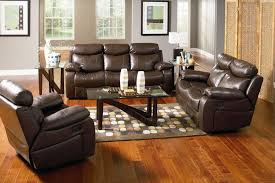 awesome brown leather sofa plus colorful wood floor idea and unique small living room table