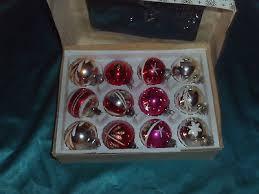 Konvolut Alter Christbaumschmuck 12 Weihnachtskugeln Glas