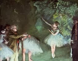 ballet rehearsal painting edgar degas ballet rehearsal art painting