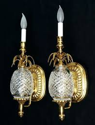 waterford crystal wall sconces pair waterford pineapple wall light sconces