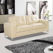 cream leather couches. Modren Couches Pinto Italian Inspired Ivory Cream Leather Sofa Collection With Chrome  Stiletto Feet For Couches A