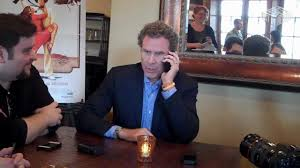 will ferrell picks up accidental phone call at interview