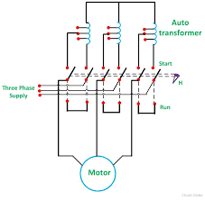 AUTOTRANSFORMER STARTER FIG 1 compressor what is auto transformer starter? its theory circuit globe on auto transformer starter wiring diagram