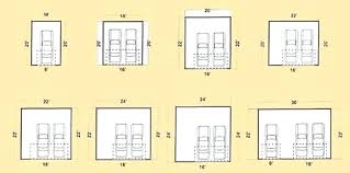 average 1 car garage size dimensions of a 2 car garage 2 car garage door size