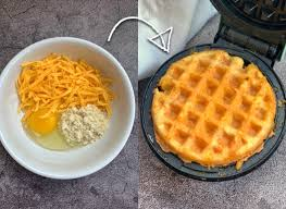 If you're missing sandwiches on your low carb or keto diet, use two chaffles to get your sando fix. Crispy Keto Cheddar Chaffles Made With Almond Flour