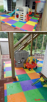Baby Play Area Outdoor Patio Cushioned Childrens Play Mat Using Softtiles Foam