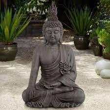 gray ceramic indoor outdoor statue