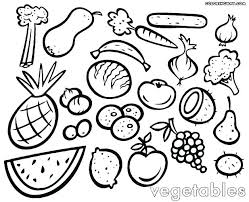 Preschool Fruit And Vegetable Coloring Pages Photo Album