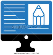 elearning essay monitor stock vector shutterstock e learning essay monitor