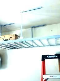 diy hanging garage shelves storage overhead plans