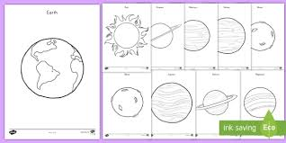 Planets Coloring Pages Space Outer Space Planets Solar System