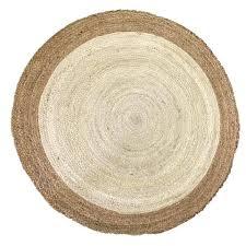 black and white stripe jute rug deer round off natural industries