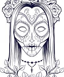 Small Picture Sugar Skull Girl Coloring Pages Getcoloringpages Com Coloring