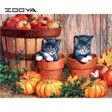 Small Pumpkin Painting Online Get Cheap Diamond Painting Cross Stitch Pumpkin Aliexpress