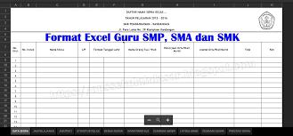 Aplikasi administrasi kesiswaan dalam 1 file excel sekolah kepala sekolah aplikasi. Aplikasi Manajemen Guru Format Excel Smp Sma Dan Smk 2020 Opssekolah Dasar Blog Paperplane
