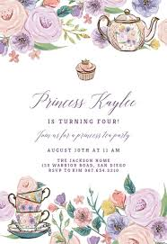 tea party invitations free template princess tea party birthday invitation template free