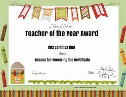 Free Printable Teacher Appreciation Certificates With Employee