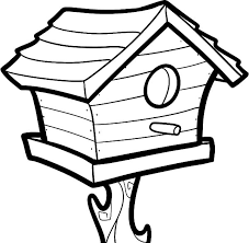Small Picture Big Bird House Coloring Pages Big Bird House Coloring Pages