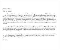 Nurse Reference Letter Interesting Registered Nurse Recommendation Letter Kubreeuforicco