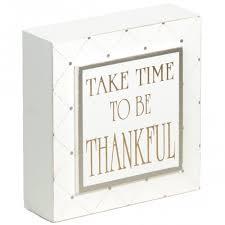 5 thankful wooden box sign