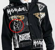 insensitive the hooded jacket sold by topman displays the odal rune the emblem of