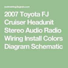 1000 ideas about 2007 toyota fj cruiser toyota fj 2007 toyota fj cruiser headunit stereo audio radio wiring install colors diagram schematic