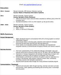 Latest IT Resume Format Example