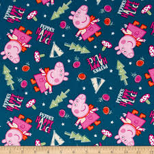 Peppa Pig Peppa's Happy Place Blue - Discount Designer Fabric ... & zoom Peppa Pig Peppa's Happy Place Blue Adamdwight.com