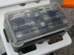 tech wiki fuse box datsun 1200 club 3 620 type headlamp changed to 20a 20a 10a if used in a 1200 change to 15a head lamp fuse 15a 15a 10a 15a