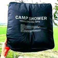 outside shower for camping bag showers heated outdoor ideas curtain diy rod c
