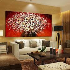 wall painting flower hand painted palette knife 3d texture flower hand painted canvas oil painting