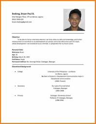 8 Cv For Job Application Resume Setups Photo Examples Resume