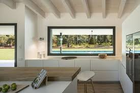 kitchen counter window. Dream Houses: Window Above The Kitchen Counter Offers A View Of Pool Area