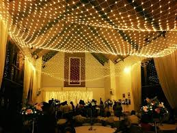 large 10m x 8m net of indoor outdoor fairy lights in warm white