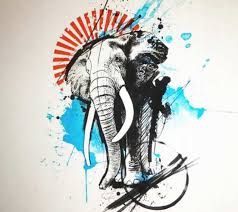 abstract drawing abstract elephant drawing at getdrawings com free for personal use