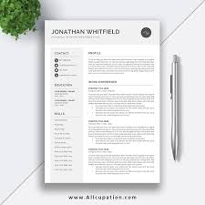 2019 Editable Resume Template Download Job Cv Template Word Resume Design Professional Cv Cover Letter Instant Download Jonathan
