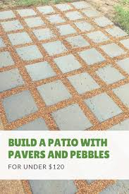 how to build a diy patio for under 120