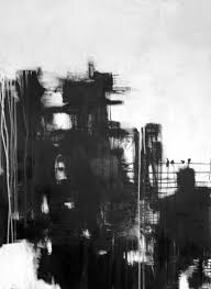 30x40 abstract black and white painting by artbycindyrobinson 500 00