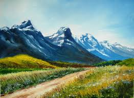 oil painting work with svetlana kanyo landscape with mountains you