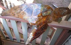 outdoor metal turtle wall art awesome aquatic sea turtle large metal decor copper bronze plated