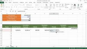 How To Build An Amortization Schedule Create An Amortization Schedule With Cumulative Amounts Youtube