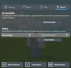 How To Make Stuff On Roblox How To Record Videos Roblox Support