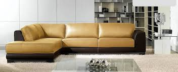 awesome two tone leather sofa two tone contemporary style sleek quality full leather couch