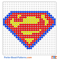 Perler Beads Patterns Stunning Superman Shield Bead Pattern And Designs Bead Sprites Printable PDF