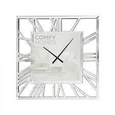80cm mirrored square wall clock
